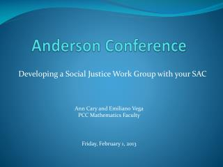 Anderson Conference