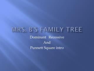 Mrs. B's Family Tree
