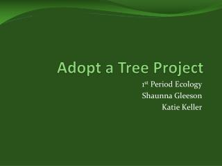 Adopt a Tree Project