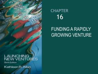 FUNDING A RAPIDLY GROWING VENTURE