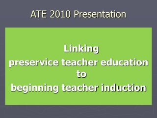 ATE 2010 Presentation