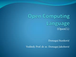 Open Computing Language