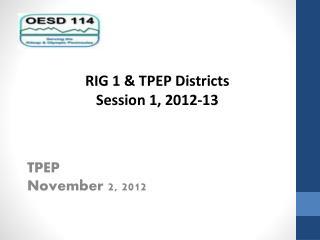 TPEP November 2, 2012
