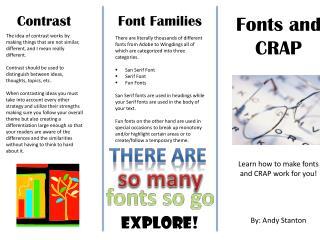 Fonts and CRAP