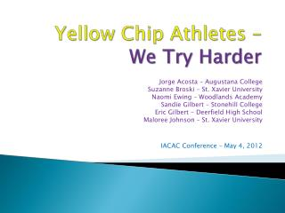 Yellow Chip Athletes – We Try Harder