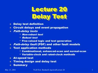 Lecture 20 Delay Test