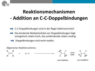Reaktionsmechanismen  - Addition an C-C-Doppelbindungen