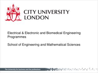 Electrical & Electronic and Biomedical Engineering Programmes