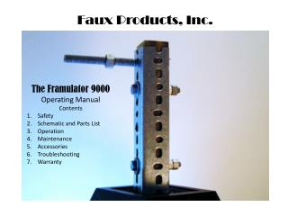 Faux  Products , Inc.