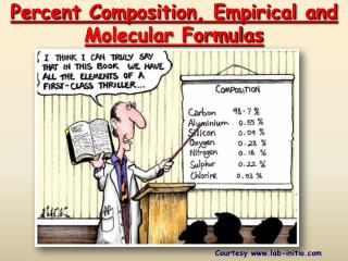 Percent Composition, Empirical and  Molecular Formulas