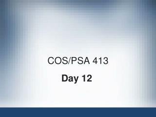 COS/PSA 413