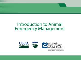 Animal Emergency Management and Animal Emergency Response Missions Unit 2
