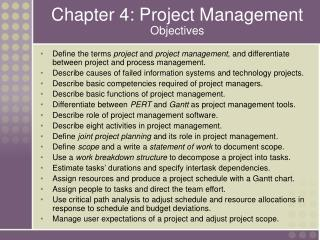 Chapter 4: Project Management Objectives