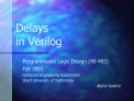 Delays  in Verilog