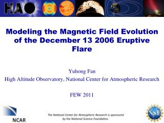Modeling the Magnetic Field Evolution of the December 13 2006 Eruptive Flare