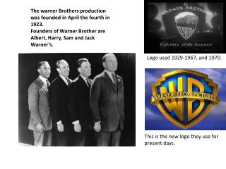 The warner Brothers production was founded in April the fourth in 1923.