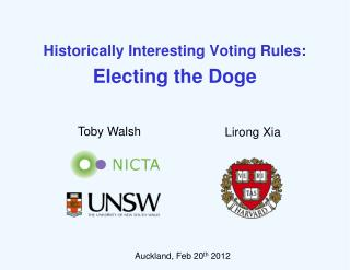Historically  Interesting Voting Rules: Electing  the Doge