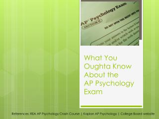 What You Oughta Know About the  AP Psychology  Exam