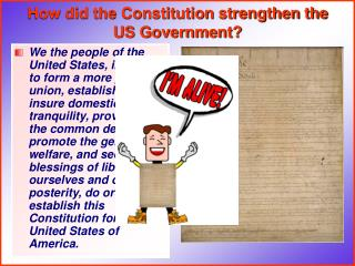 How did the Constitution strengthen the US Government