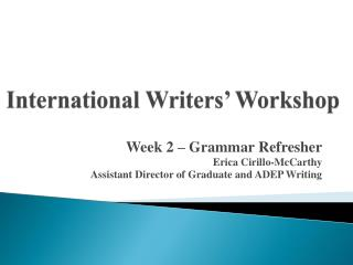 International Writers' Workshop