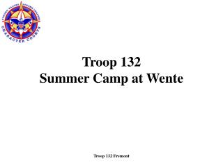 Troop 132 Summer Camp at Wente