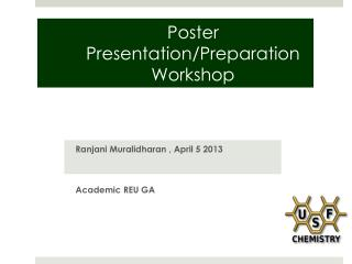 Poster  Presentation/Preparation Workshop
