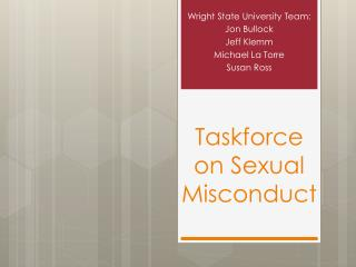 Taskforce on Sexual Misconduct
