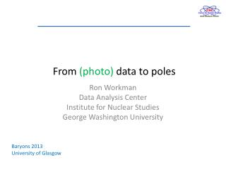 From  (photo)  data to poles