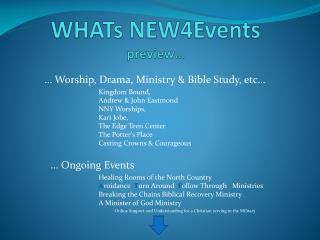 WHATs NEW4Events preview…