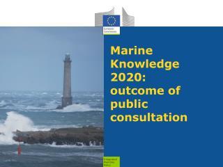 Marine Knowledge 2020: outcome of public consultation