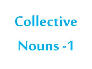 Collective  Nouns  -1