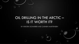 Oil  Drilling in  the Arctic –  is it worth it ?