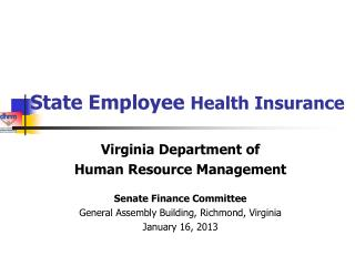 State Employee  Health Insurance