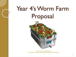 Year 4's Worm Farm Proposal