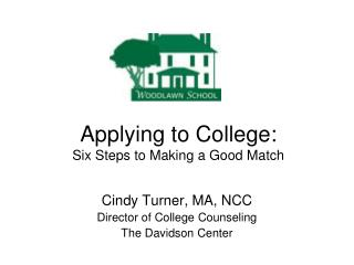 Applying to College: Six Steps to Making a Good Match