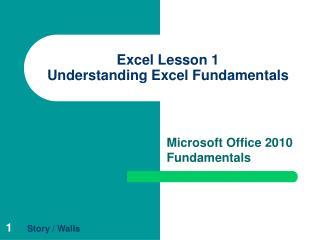 Excel Lesson 1 Understanding Excel Fundamentals