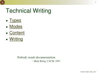 Technical Writing