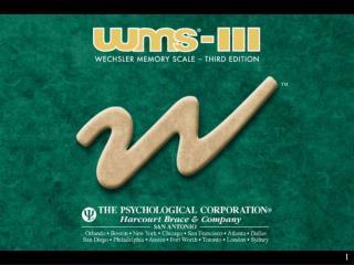 WMS–III KIT