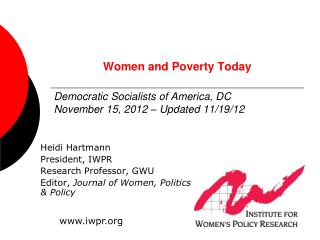 Women and Poverty Today