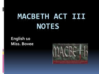 Macbeth Act III Notes