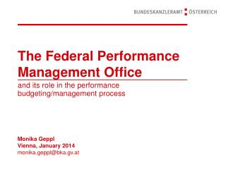 The Federal Performance Management Office