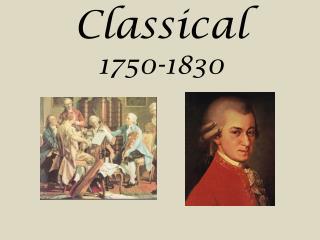 Classical 1750-1830