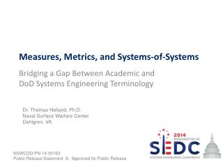 Measures, Metrics, and Systems-of-Systems