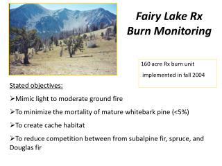Fairy Lake Rx Burn Monitoring