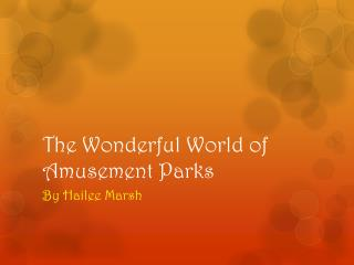 The Wonderful World of Amusement Parks