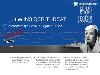 … the INSIDER THREAT