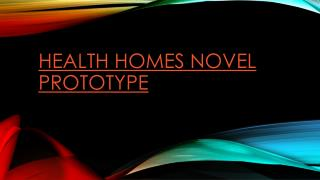 Health Homes Novel Prototype