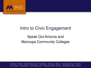 Intro to Civic  Engagement