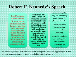 Robert F. Kennedy's Speech