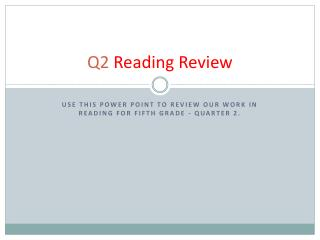 Q2  Reading Review